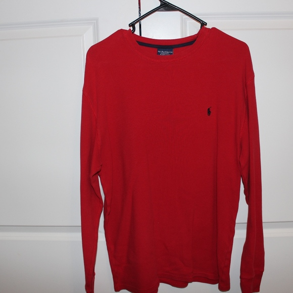 00fd39c7 Polo by Ralph Lauren Shirts | Red Polo Thermal Long Sleeve | Poshmark
